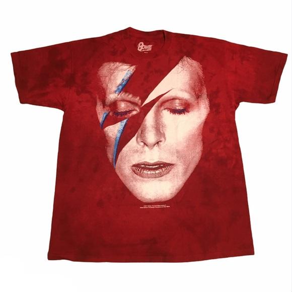 BRAND NEW David Bowie tie dye bleached tee